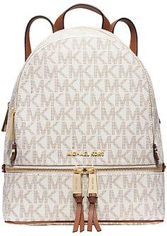 M Backpack Manhattan Printed, Womens Handbag, Brown (Arenaria), 10.5x31x27 cm (B x H T) Liu Jo
