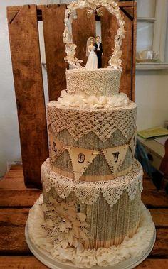 vintage paper cake
