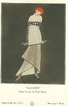 "1914,Paul Poiret, Dress ""Salome"" illustrated by Simon Puget,"