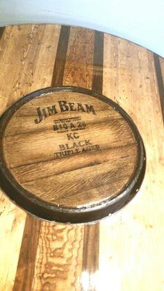 DK Whiskey Barrel Table Jim Beam