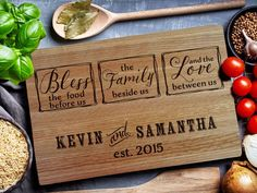 Custom Cutting Board Wedding Gift Personalized Cutting Board Anniversary Gift 114 Engraved Cutting Board Housewarming Gift