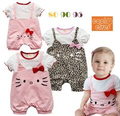 NWT Girl Baby Hello Kitty Romper Newborn/Infant/Toddler 1 Piece Jumpsuit Clothes #Unbranded #EverydayHoliday