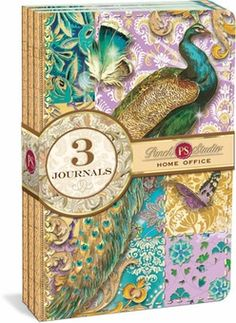 Indian Peacock Mini Journal 3-Pack: Punch Studio: Peacock Gifts