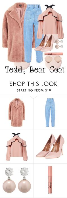 """Snuggle Up: Teddy Bear Coat"" by bookworm2804 ❤ liked on Polyvore featuring Topshop, Alexis, Jankuo, Too Faced Cosmetics, Linda Farrow, polyvorecontest, snuggleup, teddybearcoat and OriginalCreation"