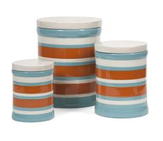 Miles Striped Canisters - Set of 3