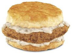 Country Fried Steak 'N' Gravy Biscuit from Hardee's. My favorite thing for breakfast...Yummy!