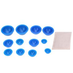 12Pcs Silicone Full Body Massage Vacuum Cups Cupping Therapy  Moxa Paste Body Relaxation Cupping Massager different sizes