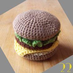 Still Vauriens » Tuto: La dinette en crochet #22 Le hamburger!