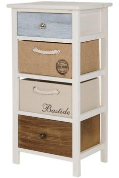 Comoda cu 4 cosuri Eliza Lemn 74x38x28 cm Filing Cabinet, Best Sellers, Storage, Furniture, Vintage, Home Decor, Purse Storage, Decoration Home, Room Decor