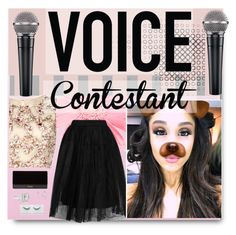 """""""Voice"""" by clairabel16 ❤ liked on Polyvore featuring Topshop, Raishma, Balmain, Fantasia by DeSerio, thevoice and YahooView"""