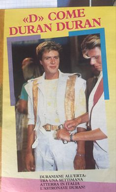 From my Duran collection Simon Le Bon, Interview, Waves, Teen, Posters, Music, Collection, Musica, Musik