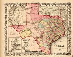 1856 - Texas Historical Map