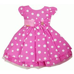 Vestido Festa Infantil Minnie Rosa