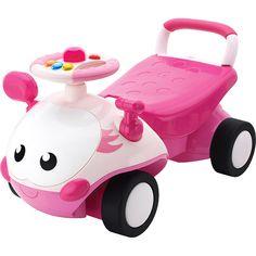 Andador y correpasillos para bebés color rosa