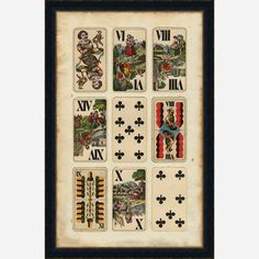Print of old European playing cards. I love this design, and the history.