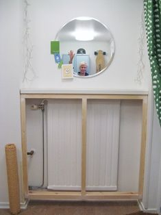 DIY radiator covers can be larger than your radiator to create a more fitted loo. DIY radiator covers can be larger than your radiator to create a more fitted look. The extra space can be used for STORAGE ! Diy Radiator Cover, White Wall Paint, My New Room, Home Decor Accessories, Home Remodeling, Diy Home Decor, Home Goods, Bedroom Decor, New Homes