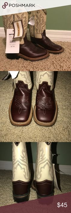 Cody James Cowboy Boots Square Toe NWT Cowboy boots, never worn. Super cute, my little buddy just never wore them. Listed for $45, make an offer if you'd like! Cody James Shoes Boots