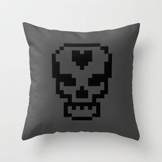 Pixel Skull Pillow by Lockhart Design ($20)