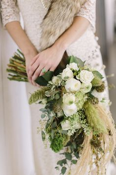 lush green bouquet | When He Found Her Photography