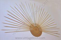 Vintagellous: DIY ESPEJO DE SOL VINTAGE Diy Canvas Frame, Diy Frame, Resin Crafts, Diy Crafts, Starburst Mirror, Diy Mirror, Mirror Ideas, Girl Room, Make It Yourself