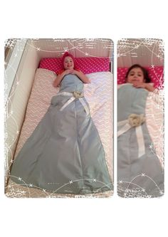 A little girl's quilt, blanket or comforter from an upcycled bridesmaid dress. This makes me laugh. Upcycled Prom Dress, Diy Dress, Fabric Crafts, Sewing Crafts, Sewing Projects, How To Make Pillows, Diy Pillows, Little Girl Dresses, Nice Dresses