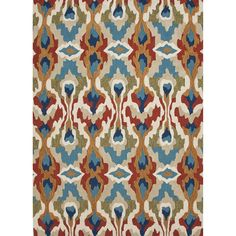 Brio Hand-Tufted Blue/Red Area Rug