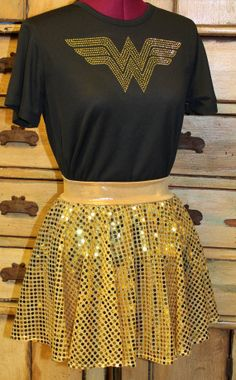 Complete Wonder Woman Running outfit tech tee and by suestevepat, $58.00