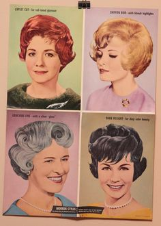 Vintage Hair Salon Poster from 1960s