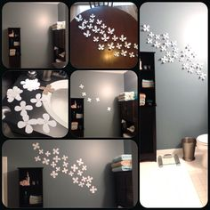 Umbra wall flowers! Step by step to insure your pattern is what you want.