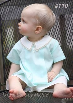 Childrens Sewing Patterns, Diy Couture, Heirloom Sewing, Baby Sewing, Sew Baby, Baby Boy Outfits, Children Outfits, Children Clothing, Short Outfits