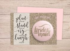 Will You Be My Bridesmaid Card Will You be by @WeddingPaperieShop on #etsy. #bemybridesmaidcard