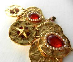 Vintage CEREVE PARIS massive  Haute Couture red by RAKcreations