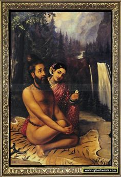 Vishwamitra and Menaka-by Raja Ravi Verma