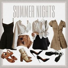 Retro Outfits, Girly Outfits, Cute Casual Outfits, Vintage Outfits, Summer Outfits, Looks Dark, Looks Cool, Cute Fashion, Teen Fashion