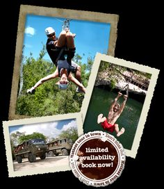 Oh, yeah, we have to do this one.  Canopy/zip line tours.  Even Daniel can do this one!  Trip Advisors #1 attraction in Mexico in 2010.
