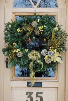 Gorgeous winter wreath from Detroit Garden Works