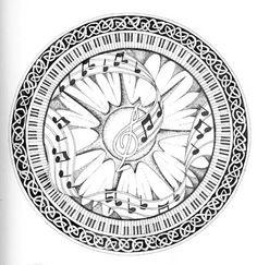 Fantastic Music Mandala Design!