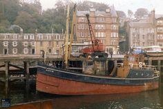MV Kaffir in Rothesay. Photo courtesy of Scottish Maritime Museum. Isle Of Bute, Dutch Barge, Boat Drawing, Steam Boats, Fishing Vessel, Boat Art, Old Boats, Glasgow, Edinburgh