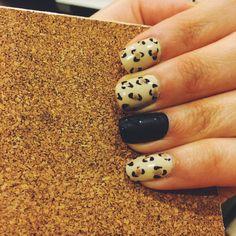 Leopard print matte, nail art