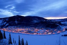 We won't see a snow sunrise like this one on our visit: Dawson City Sunrise in the Yukon