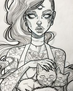 Cat ladyyyy .. Love this but would definitely add color with no tattoos and…