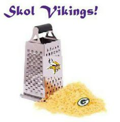 Skol Vikings! Shredding then cheese heads