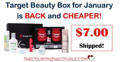 Woohoo! IT'S BACK! The Target January Beauty Box is available NOW and EVEN CHEAPER! Grab it for only $7.00 (reg $10!)  Click the link below to get all of the details ► http://www.thecouponingcouple.com/10-item-target-beauty-box-only-10-shipped-go-now/ #Coupons #Couponing #CouponCommunity  Visit us at http://www.thecouponingcouple.com for more great posts!