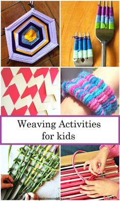 Weaving for kids: from straw weaving to nature weaving and how to make a God's eye, over 10 fun weaving activities for kids   #kidsactivities #weaving