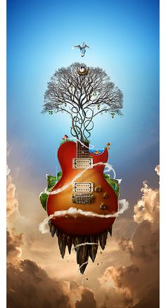 The Music nature artwork by Jerico Santander 30 Beautiful Nature Inspired Artworks Art And Illustration, Illustrations, Surreal Artwork, Surreal Photos, Nature Artwork, Foto Fantasy, Fantasy Art, Digital Art Photography, Ouvrages D'art