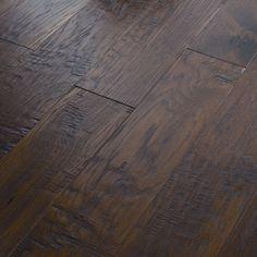 "Shaw Floors Panorama 6-3/8"" Engineered Handscraped Hickory in Evening Glow"