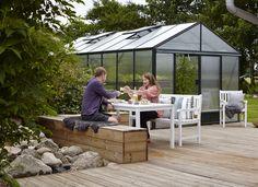 Maxi 4 växthus med isolerplast. Det perfekta odlingsväxthuset! Från Willab Garden.