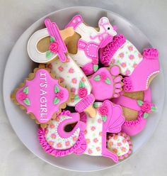 Frill & Flower Baby Cookies