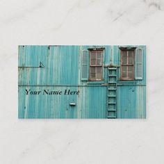 In Between Windows Business Card Photographer Business Cards, Photography Business, Art Photography, Aquamarine Colour, Old Windows, Wall Colors, Breckenridge Colorado, Outdoor Decor, Ladder