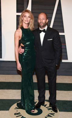Rosie Huntington-Whiteley and Jason Statham. See 18 more celebrity ladies who are taller than the leading men in their lives.